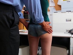 Shoplyfter - Skeletal Teen Blackmailed and Stripped Down