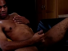 Black solo radiate jerking his thick cock
