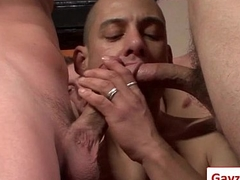 Bukkake Boyz - Gay Hardcore Sex from www.GayzFacial.com 20