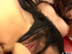 Breasty japanese'_s wanton playing